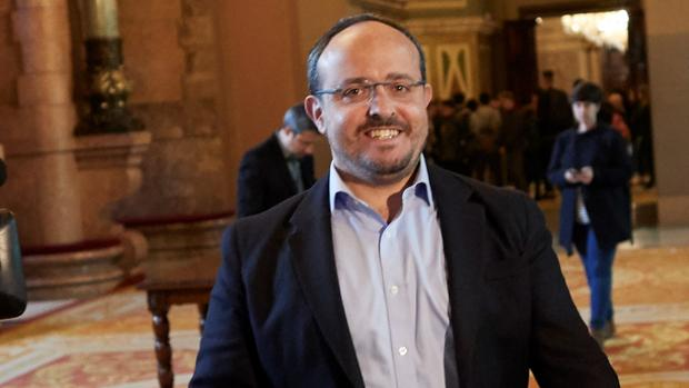 El diputado Alejandro Fernández en el Parlamento de Cataluña