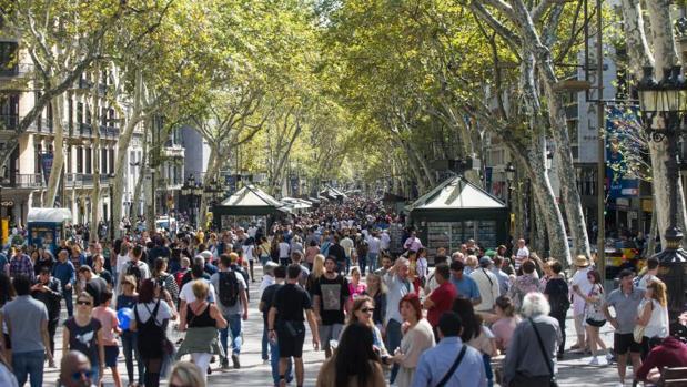 Vista de La Rambla de Barcelona