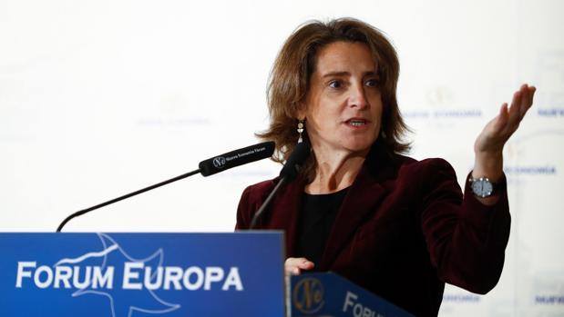La ministra Teresa Ribera, durante su intervención en Nueva Economía Fórum