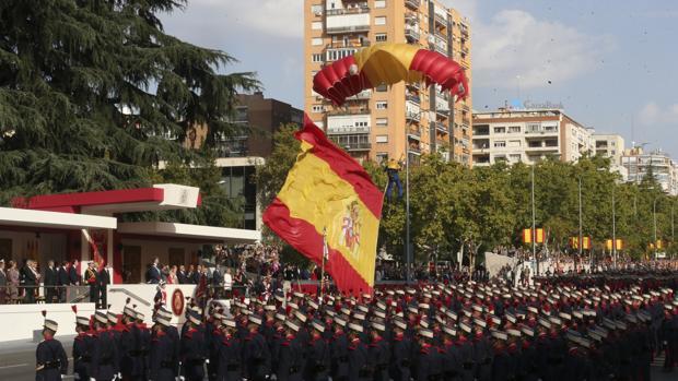 ERC que pedía la supresión de todos los desfiles militares y todo tipo de exhibición en el Congreso
