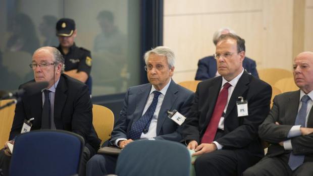 Gayoso y Pego durante el juicio por las prejubilaciones millonarias