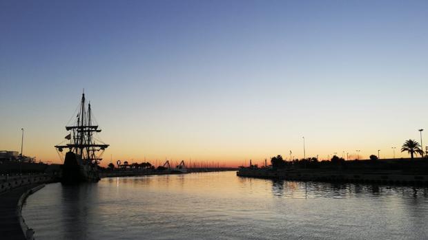 Imagen tomada este jueves en la Marina de Valencia