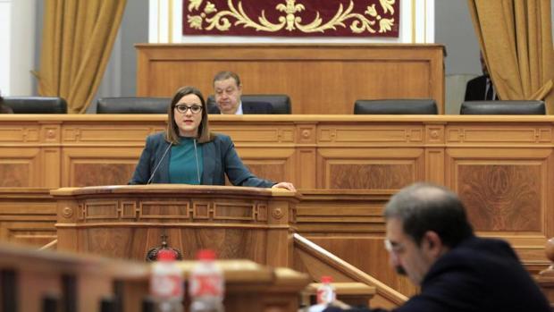María Díaz es la presidenta de Podemos en el Parlamento de Castilla-La Mancha