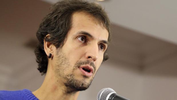 David Bruzos, cabeza de lista de la candidatura crítica con Villares en las elecciones de En Marea