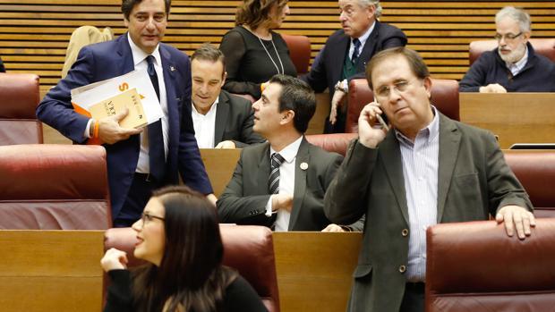 Imagen del grupo de Ciudadanos en las Cortes Valencianas