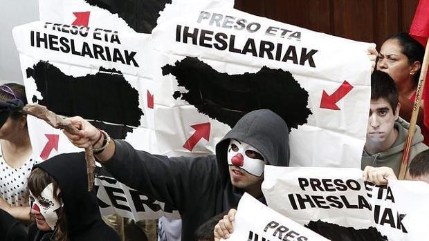 Manifestación de apoyo a los presos de ETA