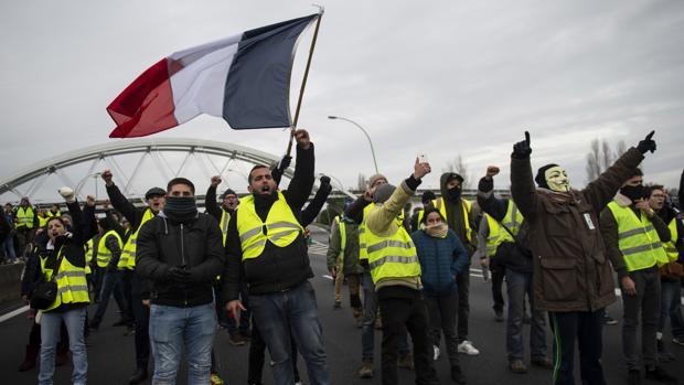 Protesta de los chalecos amarillos en Tolouse