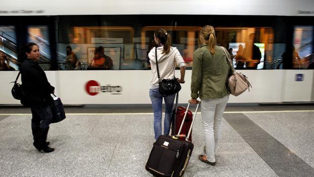 Imagen de una unidad del Metro de Valencia