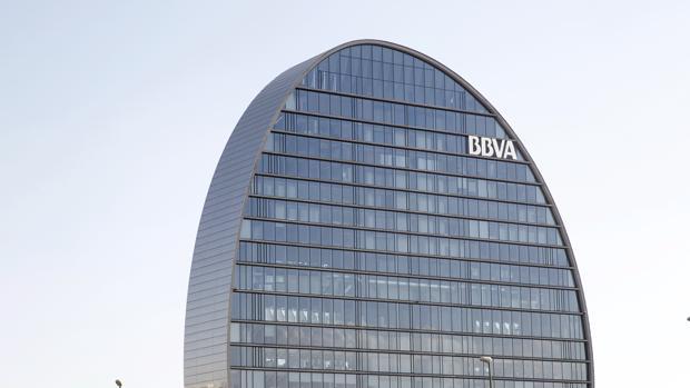 Imagen de la sede del banco BBVA en Madrid