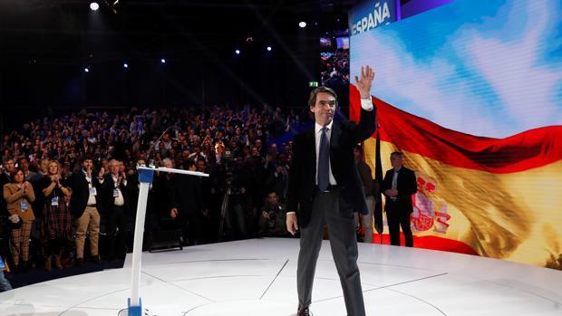 El presidente del Gobierno José María Aznar, en la Convención Naciional del PP