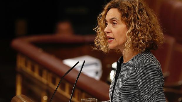 Meritxell Batet durante una intervención ayer en el Congreso de los Diputados