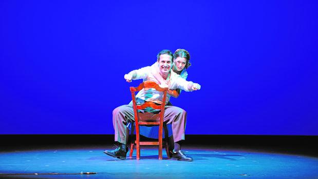 Un instante de la obra, que se representa en el teatro Victoria