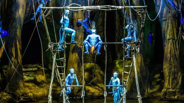 Momento del espectáculo inspirado en «Avatar»