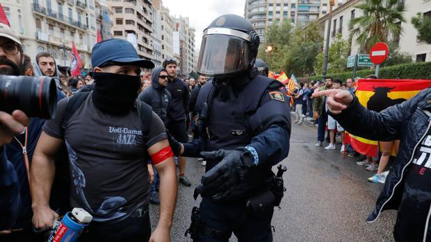 Manifestación el 9 de octubre de 2018 en Valencia
