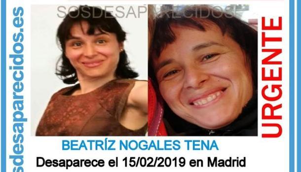Carteñ de búsqueda de Beatriz Nogales