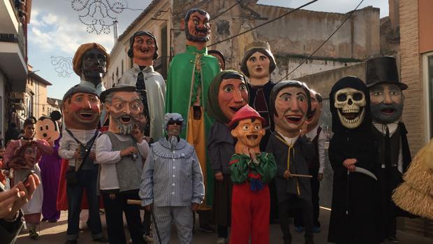 Personajes del Carnaval de Herencia, declarado Fiesta de Interés Turístico Nacional