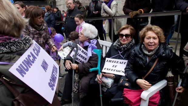 Mujeres en la manifestación de Vigo el pasado 8 de marzo
