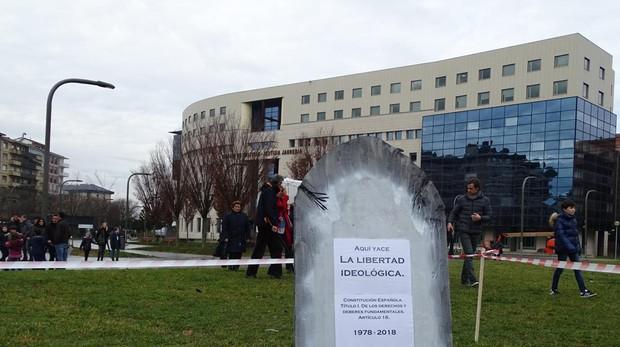 Protesta contra el programa Skolae el pasado mes de diciembre