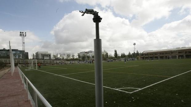 Campo de fútbol del polideportivo Luis Aragonés, en Hortaleza