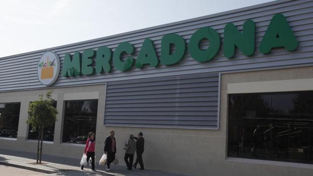 La marca Mercadona en uno de sus supermercados