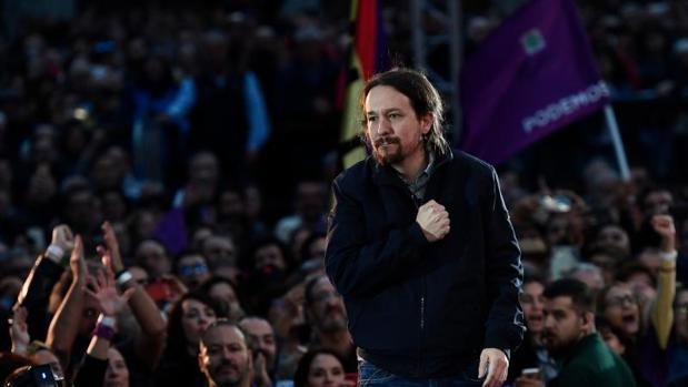 Pablo Iglesias en un acto de campaña