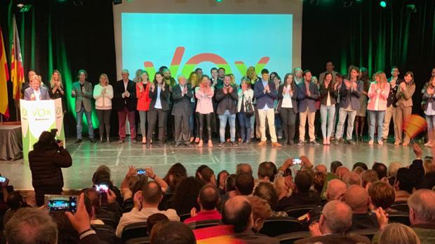 Acto de presentación de las listas de Vox en Baleares
