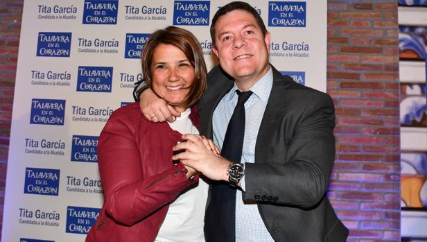 Emiliano García-Page y Agustina García Élez