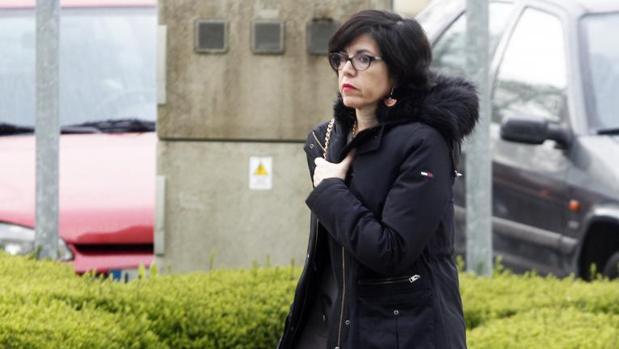 Pilar de Lara, a su llegada los juzgados de Lugo el pasado miércoles