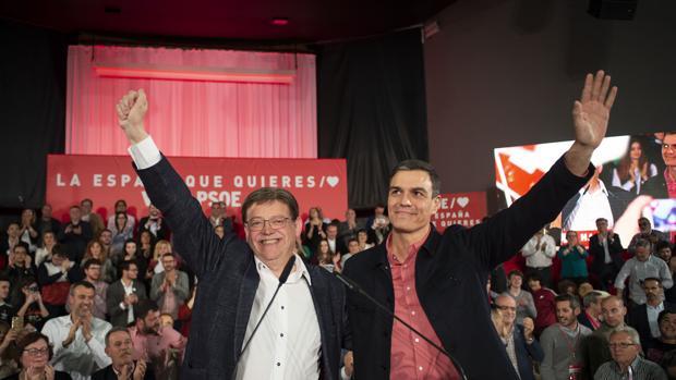 Imagen de Ximo Puig y Pedro Sánchez tomada el pasado viernes en Castellón