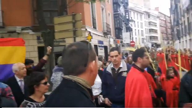 Imagen del video colgado en el Twitter de Valladolid Cofrade