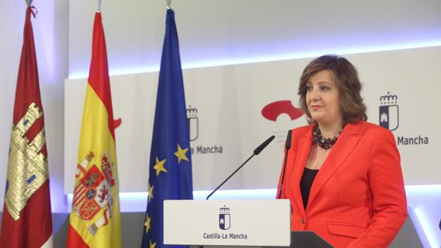 La consejera de Economía, Empresas y Empleo, Patricia Franco, en rueda de prensa