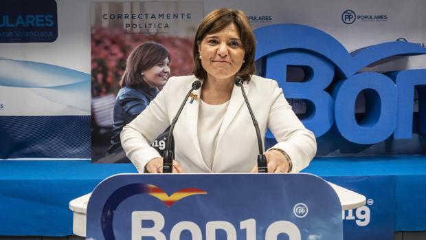 Imagen de la presidenta del PP de la Comunidad Valenciana. Isabel Bonig, tomada la madrugada del domingo