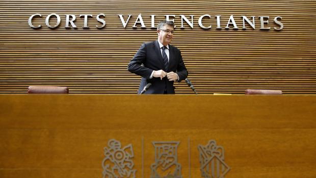 Enric Morera, en las Cortes Valencianas en una imagen de archivo