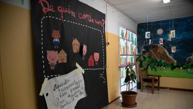 Interior de un centro escolar en Cataluña