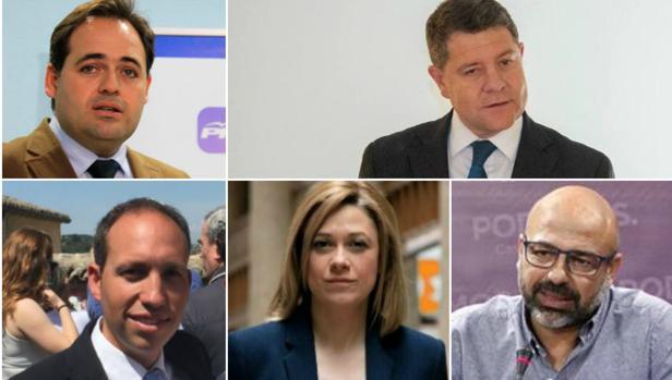 Los cinco candidatos a presidir la Junta de Comunidades de Castilla-La Mancha