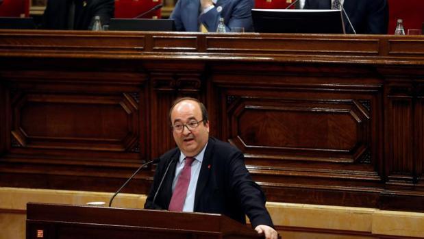 Miquel Iceta, hoy, en el Parlamento de Cataluña