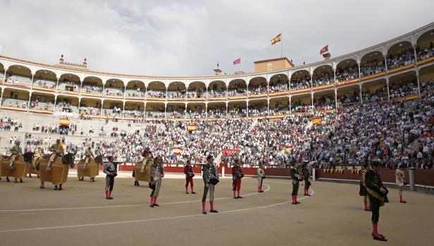 Espectáculo taurino en la Plaza de Las Ventas