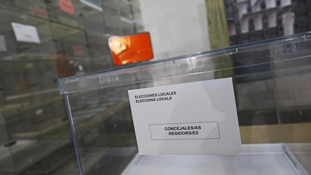 Imagen de una de las urnas que el próximo domingo estará en los colegios electorales