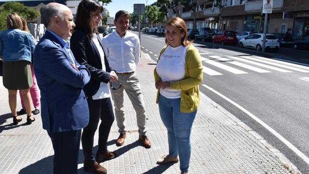 Agustina García Élez ha visitado las obras de las CM-4101 en la vía de acceso a Talavera