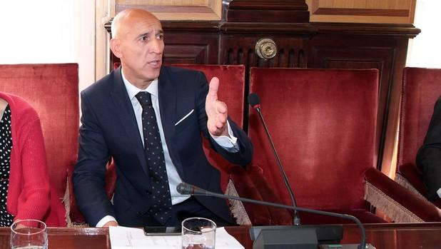 José Antonio Diez, en el pleno de este viernes en el Ayuntamiento de León