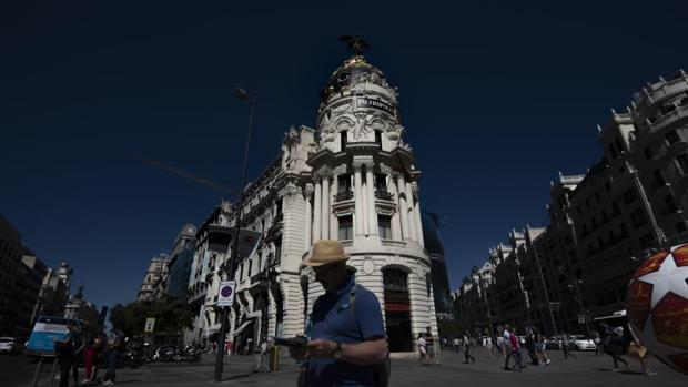 Edificio Metrópolis, en la confluencia de la calle de Alcalá con la Gran Vía