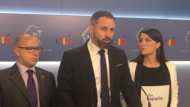 El líder de Voxm, Santiago Abascal,