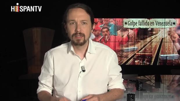Pablo Iglesias en su programa en HispanTV