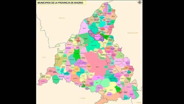 Municipios De Madrid Mapa.Mapa De Municipios De Madrid