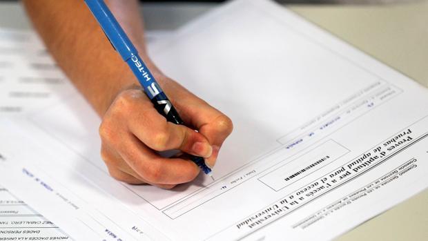 Imagen del examen realizado en Valencia este martes