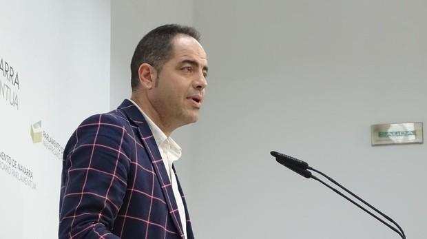 El secretario de organización de PSN, Ramón Alzórriz, este jueves