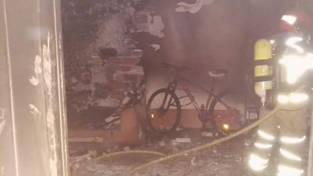 Estado en el que quedó parte del inmueble tras el incendio