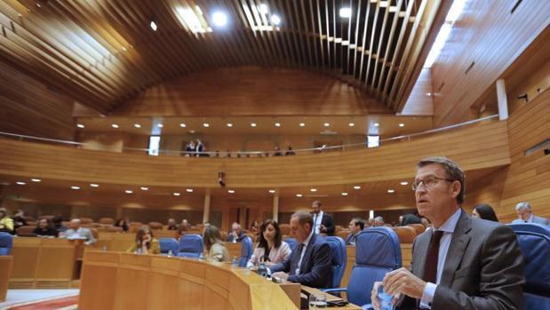 Feijóo, esta mañana en el Parlamento de Galicia