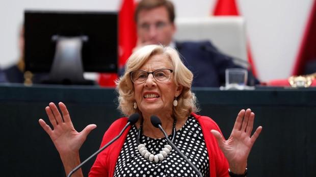 Manuela Carmena, durante su discurso