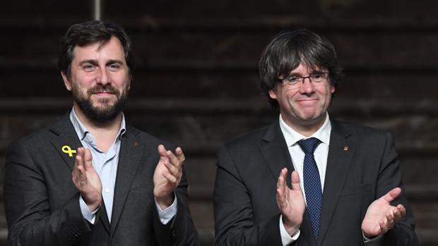 Antoni Comín y Carles Puigdemont, en una imagen de archivo